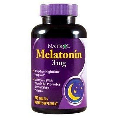 Comprar Melatonina 3 mg - Natrol - 240 comprimidos (hormônio do sono)