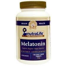 Comprar Melatonina 3 mg - Nutralife - 120 comprimidos mastigáveis (hormônio do sono)