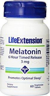 Comprar Melatonina 3 mg Liberação Gradual (6 horas) - Life Extension - 60 tablets (hormônio do sono)