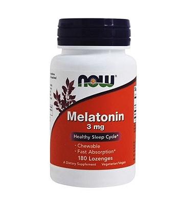 Comprar Melatonina 3 mg sublingual - Rápida Absorção - Now Foods - 180 comprimidos mastigáveis