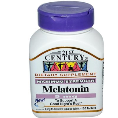 Comprar Melatonina 5 mg - 21st century  - 120 comprimidos