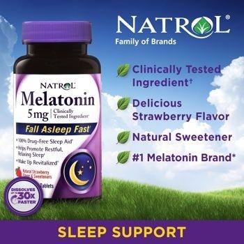 Comprar Melatonina 5 mg Fast Dissolve sublingual Sabor Morango - Natrol - 250  (hormônio do sono) - Frete Grátis