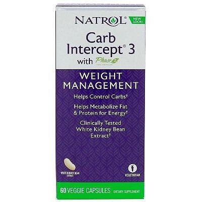 Bloqueador de Carboidratos (Carb Intercept Phase 3 + fase 2 ) - Natrol -  60 cápsulas