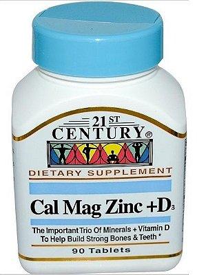 Cal Mag Zinc + D3 - 21 ST Century - 90 tablets
