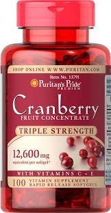 Cranberry 12600 mg -  Puritans Pride - Liberação Rápida - 100 softgels