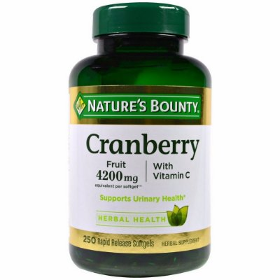 Cranberry 4200 mg com Vitamina C & E -  Nature´s Bounty - 250 softgels