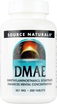 DMAE 351 mg - 200 tablets - Source Naturals