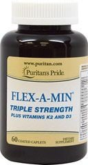 Flex-A-Min Triple Strength - Glucosamina + Condroitina + MSM - Puritan´s Pride - 60 Tablets