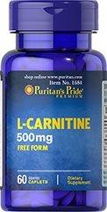 L-Carnitina 500 mg - Puritan´s Pride - 60 cápsulas