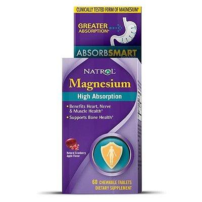 Magnésio Alta absorção - Natrol - 60 tablets mastigáveis