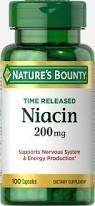 Niacina 200 mg Liberação Gradual - Nature´s Bounty - 100 cápsulas