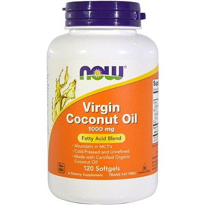 Óleo de Coco virgem (Virgin Coconut Oil) 1000 mg - Now Foods - 120 softgels