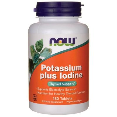 Potássio mais Iodo (Tireóide) - Now Foods 180 Tablets