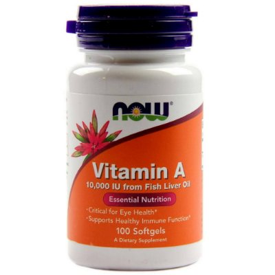 Vitamina A 10.000 IU - 100 Softgel - Now Foods