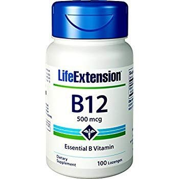 Vitamina B-12 500 mcg - Life Extension - 100 Pastilhas