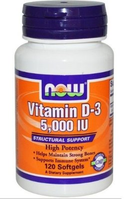 Vitamina D-3 5000 IU - Now Foods - 120 Softgels