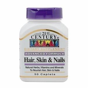 Vitamina para Cabelo, Pele e Unha - HAIR -SKIN - NAILS - 21st Century 50 tablets