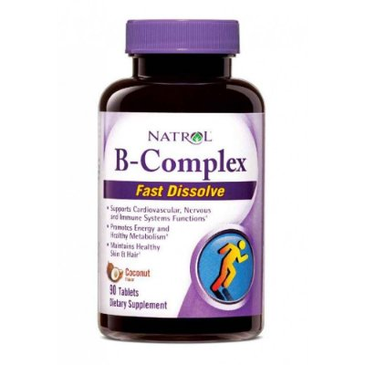 Vitaminas Complexo B com óleo de coco - Natrol - 90 Comprimidos