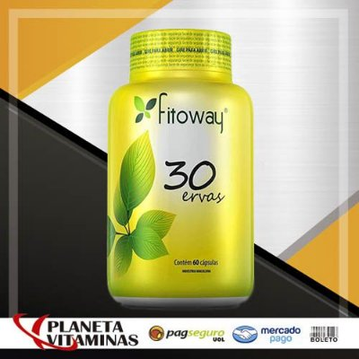 30 Ervas Fitoway - 60 Cáps