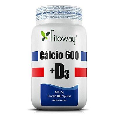 Cálcio 600 + D3 Fitoway - 180 Cáps