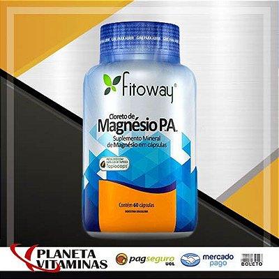 Cloreto De Magnésio P.A. Fitoway - 60 Cáps Vegetal