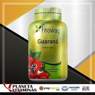 Guaraná Fitoway 500mg - 60 Cápsulas