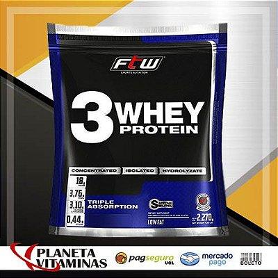 Whey 3 Protein Fitoway FTW - Sabor Baunilha - 2270gr