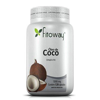 Óleo De Coco Fitoway 1.000mg - 120 Cápsulas