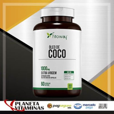 Óleo De Coco Fitoway Farma 1.000mg - 60 Cáps