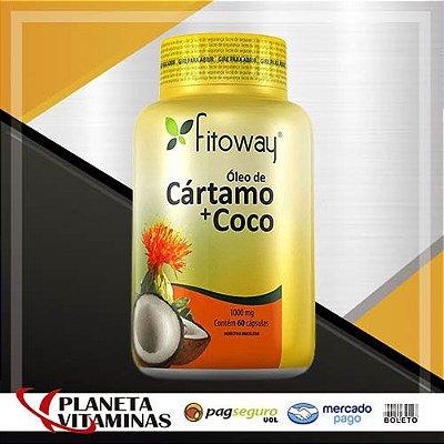 Óleo De Cártamo + Coco Fitoway 1000mg - 60 Cápsulas