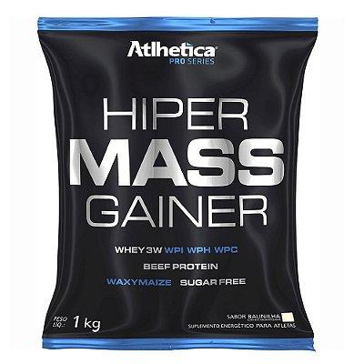 Hiper Mass Gainer Pro Series 1kg - Sabor Baunilha - Atlhetic