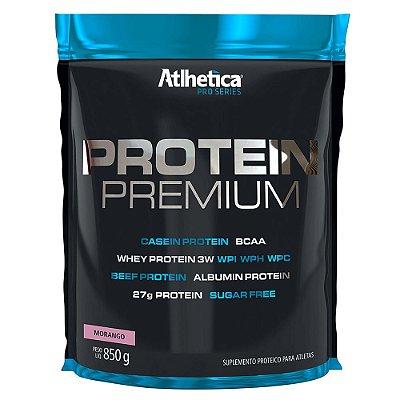 Protein Premium Pro Series 850g - Sabor Morango - Atlhetica