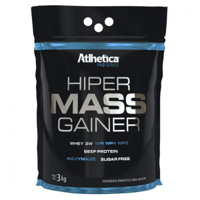 Hiper Mass Gainer Pro Series 3kg - Sabor Baunilha - Atlhetic