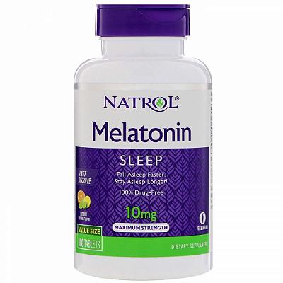 Comprar Melatonina 10 mg Fast Dissolve sublingual sabor CITRUS - Natrol - 100 comprimidos (hormônio do sono)