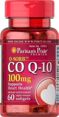 Coenzima Q10 (CoQ10) 100 mg  - Puritan Pride - 60 softgels