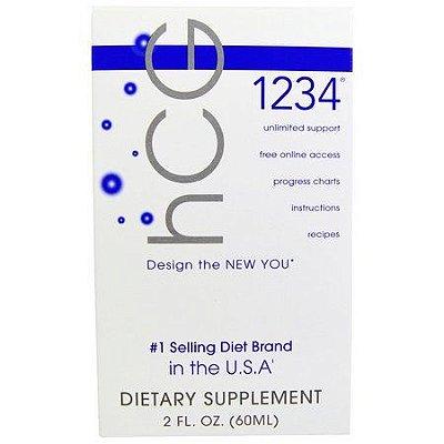 Diet Drops 1234 Sublingual (HCG) - Creative Bioscience - 60 ML (Envio Internacional)
