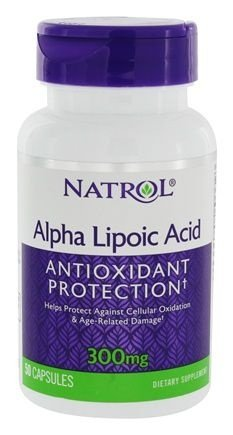 Ácido Alfa Lipóico (Alpha Lipoic Acid)  300 mg - Natrol - 50 cápsulas  (Envio Internacional)