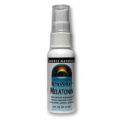 Comprar Melatonina líquida Spray 1,5 laranja  - Source Naturals - 59,14 ml (hormônio do sono)