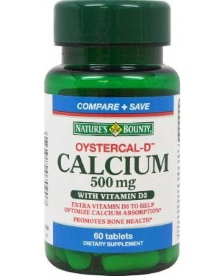 Cálcio 500 mg + Vitamina D3 - Nature´s Bounty - 60 tablets