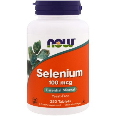 Selênio 100 mcg - Now Foods - 250 Tablets (Envio Internacional)