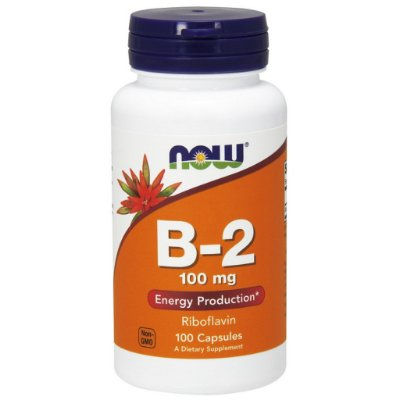Vitamina B-2 (Riboflavina)  100 mg - Now Foods - 100 Cápsulas