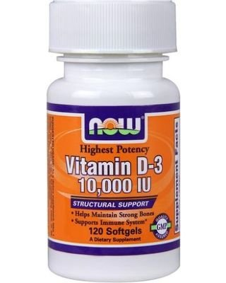 Vitamina D-3 10.000 IU - 120 Softgel - Now Foods