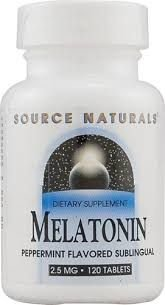 Melatonina 2,5 mg sabor Laranja-flavor - Source Naturals - 120 comprimidos (hormônio do sono)