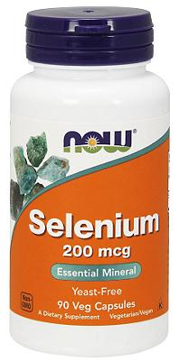 Selênio 200 mcg - Now Foods - 90 Cápsulas (Envio Internacional)