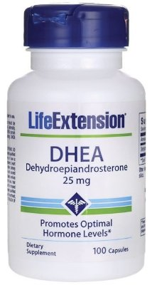 DHEA 25 mg  -  Life Extension - 100 cápsulas