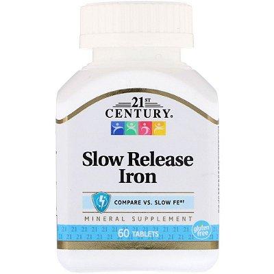 Ferro 45 mg - Liberação Gradual - 21 st Century - 60 Tablets