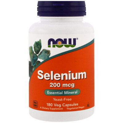 Selênio 200 mcg - Now Foods - 180 Cápsulas (Envio Internacional)