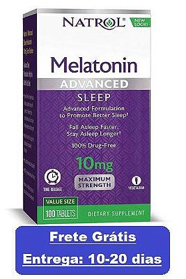 Melatonina 10 mg Liberação Rápida e Gradual -  Natrol - 100 comprimidos (Envio Internacional)