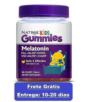 Melatonina em gomas Kids 1 mg - Natrol - 90 Gomas (Envio Internacional)