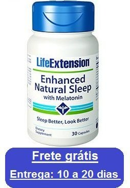 Regulador natural do sono com Melatonina - Life Extension - 30 cápsulas (Envio Internacional)